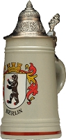 Beer Steins by King - Berlin Coat of Arms Town Flat Authentic German Beer Stein (Beer Mug) 0.4l