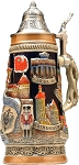 Beer Steins by King - Deutschland (Germany) City Landmarks Relief German Beer Stein Limited Edition
