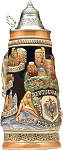 Beer Steins by King - Rhine (Rhein) River Landmarks Relief Beer Stein (Beer Mug) Limited Edition