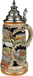 Beer Steins by King - Bavarian Castle Full Relief German Beer Stein (Beer Mug) 0.75l Limited Edition