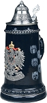 Beer Stein by King - Old Germany (Deutschland) Pewter Coat of Arms Authentic German Beer Stein 0.5l