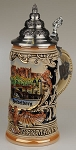 Beer stein by King - Heidelberg City Skyline Relief Authentic German Beer Stein 0.4l Limited Edition