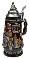 Beer Stein by King - Deutschland (Germany) City Landmarks Relief Beer Stein 0.5l Limited Edition