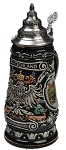 Beer Stein by King - Germany (Deutschland) CoA Full Relief Beer Stein Black 0.4l Limited Edition