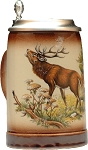 Beer Mug by King - Wildlife Deer Authentic German Beer Stein (Beer Mug) 0.5l - Made in Germany