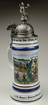 Beer Stein by King - Pioneers Historical Military Reserve Authentic German Beer Stein 1L