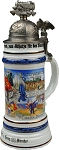 Beer Steins by King - Transportation Historical Military Reserve Authentic German Beer Stein 1l