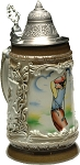 Beer Stein by King - Golf Player Shield Authentic German Relief Beer Stein (Beer Mug) 0.5l