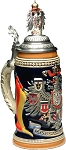 Beer Stein by King - Germany CoA German Beer Stein (Beer Mug) 0.75l with Pewter CoA painted Lid