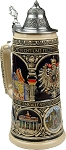 Beer Mug by King - Old Heritage CoA and Landmarks Relief Colored Beer Stein (Beer Mug) 0.75l Limited
