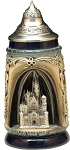 Beer Stein by King - Romantic Sites Newschwanstein Castle Authentic German Beer Stein (Beer Mug) 0.5l - Made in Germany