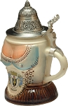 Beer Steins by King - Bavarian Woman's Top Authentic German Beer Stein (Beer Mug) 0.25l