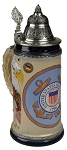 Beer Stein by King - US Coast Guard Coat of Arms Relief German Beer Stein (Beer Mug) 0.75l Limited