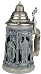 Beer Stein by King - Thewalt 1894 Crusader Relief Authentic German Beer Stein (Beer Mug) 1l Limited