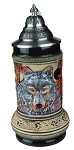Beer Stein by King - Thewalt 1894 Wolf Relief Beer Stein (Beer Mug) 0.5l Limited
