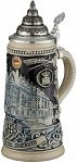 Beer Stein by King - Licensed Munich Hofbrauhaus HB relief stein 0.5l Limited Edition Stone Grey