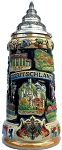 Beer Stein by King - German Panorama Stein Cobalt Beer Mug 0.75l Limited Edition