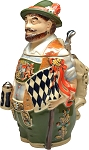 Beer Stein by King - Bavarian Patriot 3D Figurine Speciality German Beer Stein (Beer Mug) Limited