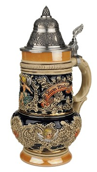 Beer Stein by King - Thewalt 1894 Rokoko Angel Relief German Beer Stein (Beer Mug) 0.5l Limited